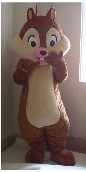 Chip E Dale Chipmunk Adult Mascot Costume Fancy Outfit Cartoon Character Party Dress Free Shipping