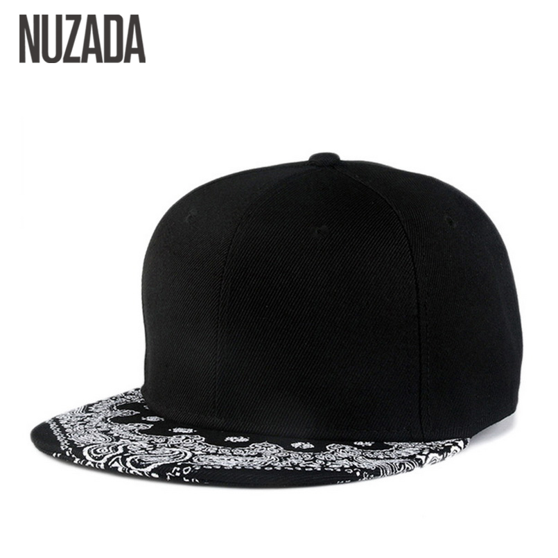 Brands NUZADA Bone Men Women Baseball Caps Hip Hop Hats Snapback Simple Printing Cap Fashion Trend Cotton jt-058 2017 new fashion women men knitting beanie hip hop autumn winter warm caps unisex 9 colors hats for women feminino skullies