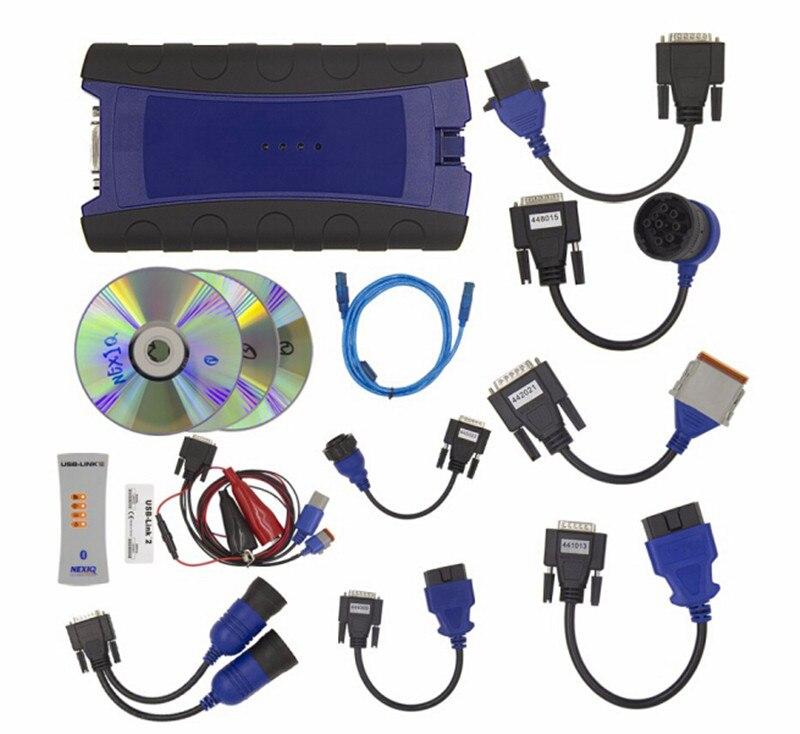 imágenes para 2017 NEXIQ USB Enlace Diesel Truck Herramienta de Diagnóstico Con El Sistema Completo NEXIQ 2 USB Enlace Con Software Heavy duty truck escáner de DHL envío