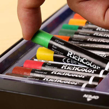 Ciężkie kolory olej pastelowy zmywalny miękki kredka kolorowy kij kreatywny artystyczny obraz dostarcza bezpieczny nietoksyczny prezent dla dzieci tanie tanio Pastelowe oleju Zestaw 12 24 36 color