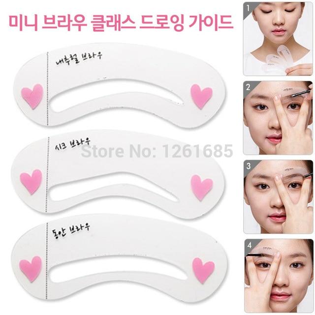 1 Set Free Shipping Fashion Plastic Shaping Perfect Eyebrows