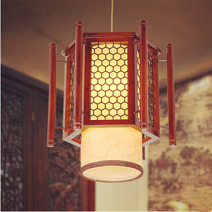 Chinese creative through-carved wood art Pendant Lights Traditional coffee lampshade lamp for bar&corridor&porch&stairs MYR021