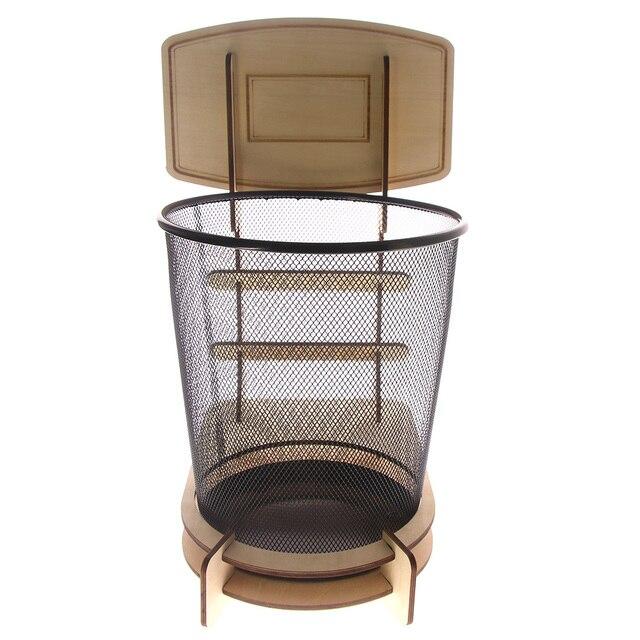 1piece Basketball Stand Wastebasket Rubbish Bin Wastebasketball Three Point Trash Baskets Player Gift