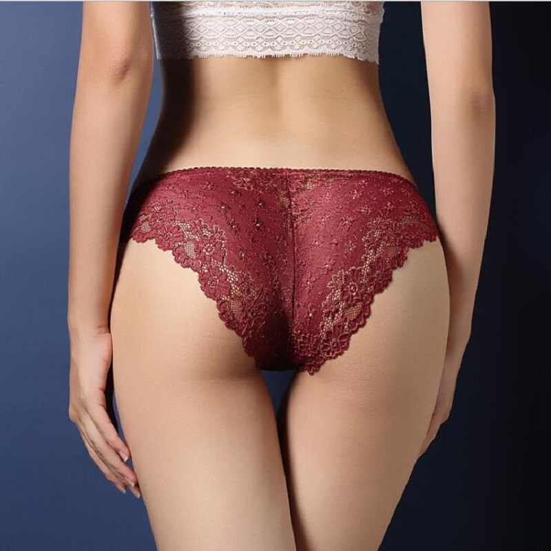 Xgravity 2019 Sexy Lingres Kant Sexy Strings Hollow Uitsnede vrouwen Lage Taille Shorts Sexy Underpant Korte Broek Sexy a064