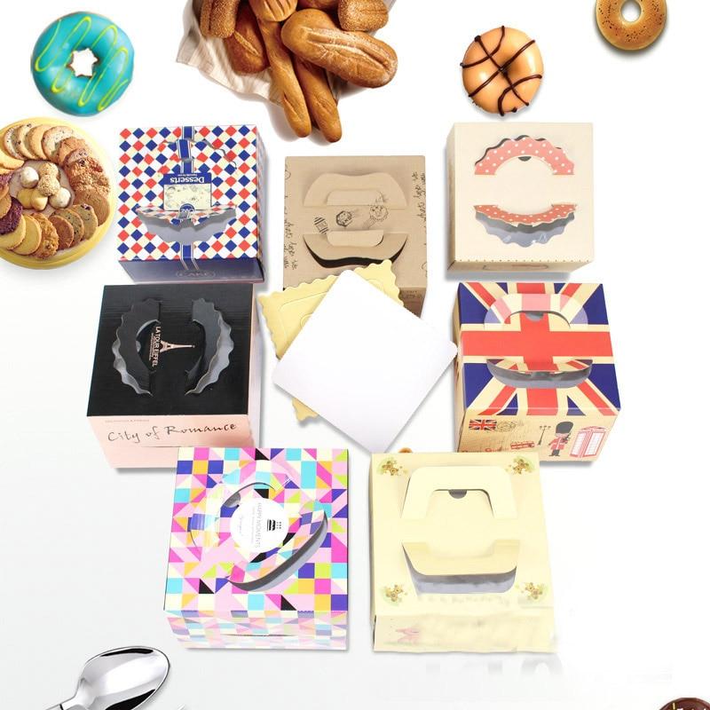 20 set 6 inch cake box met venster handvat kraftpapier kaas taart doos voor kids Verjaardag bruiloft home Party Circus gift leverancier-in Geschenktasjes & Inpak Benodigheden van Huis & Tuin op  Groep 1