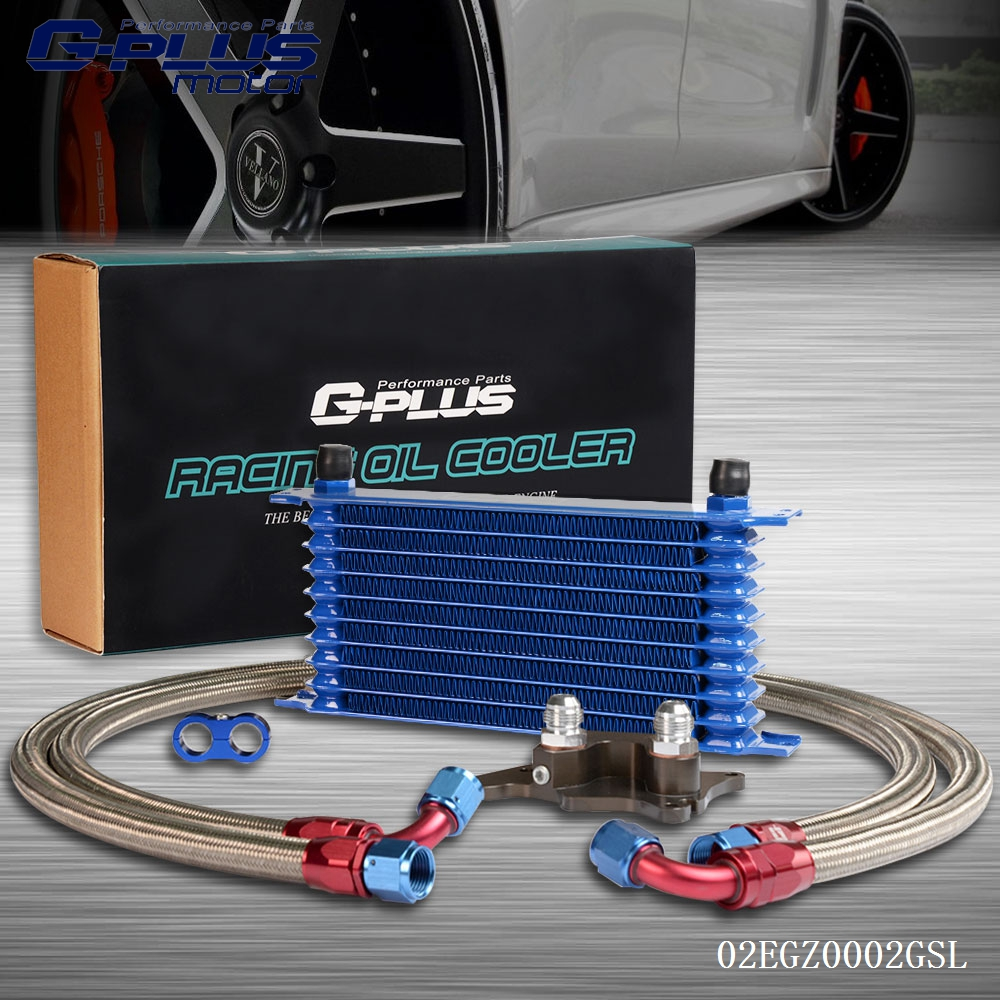 10 ROW Engine Oil Cooler Relocation Kit FOR BMW MINI COOPER  SUPERCHARGER R56