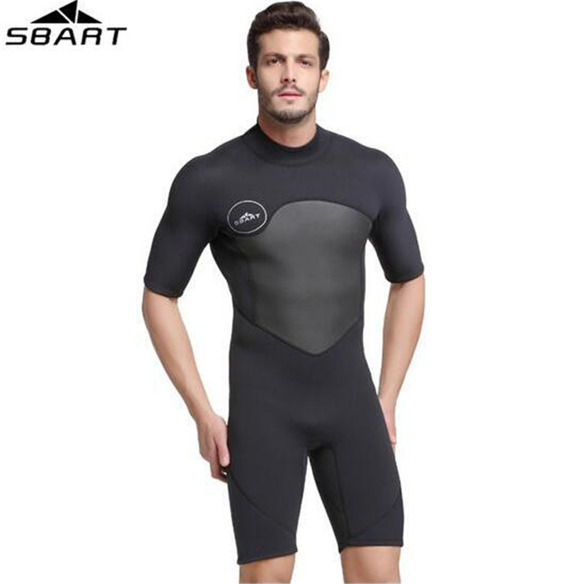 SBART 2MM Short Sleeve Neoprene Wetsuit Men Warm Winter Swimming Scuba Diving Suit Triathlon Wetsuit for Surfing Snorkeling free shipping diving suit for men women neoprene professional insulation wetsuit winter new swimming dress snorkeling wholesale