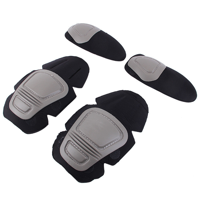 New Tactical Knee and Elbow Protector Pad For Paintball Airsoft Combat Uniform Military Suit, 2 knee pads & elbow pads/Set