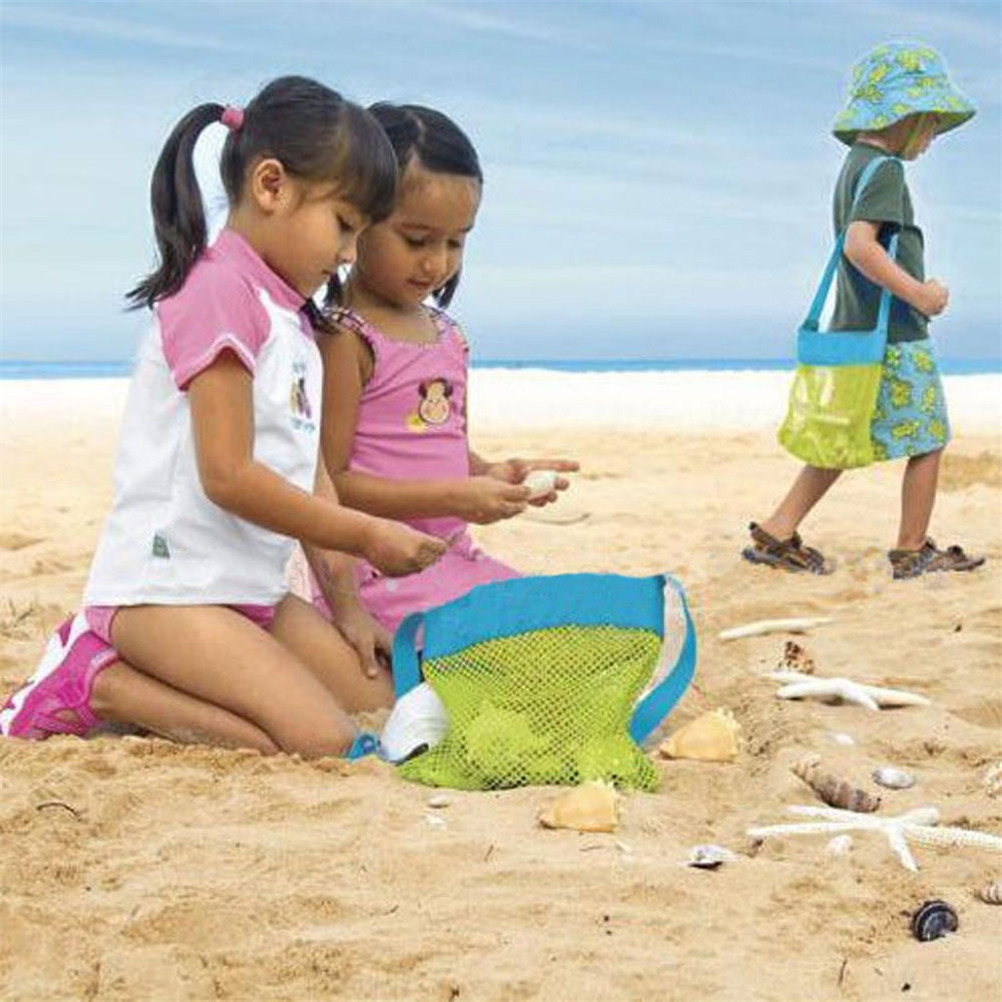 1Pc Durable Holding Toys Balls Beach Mesh Tote Bag Beach Swimming Bag Children Toys Stay Away From Sand Bag