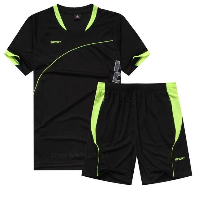 b477fc923 JUNJIAN hombres traje de correr de manga corta + pantalones cortos de  entrenamiento de baloncesto de secado rápido camiseta suelta deportes  gimnasio Fitness ...