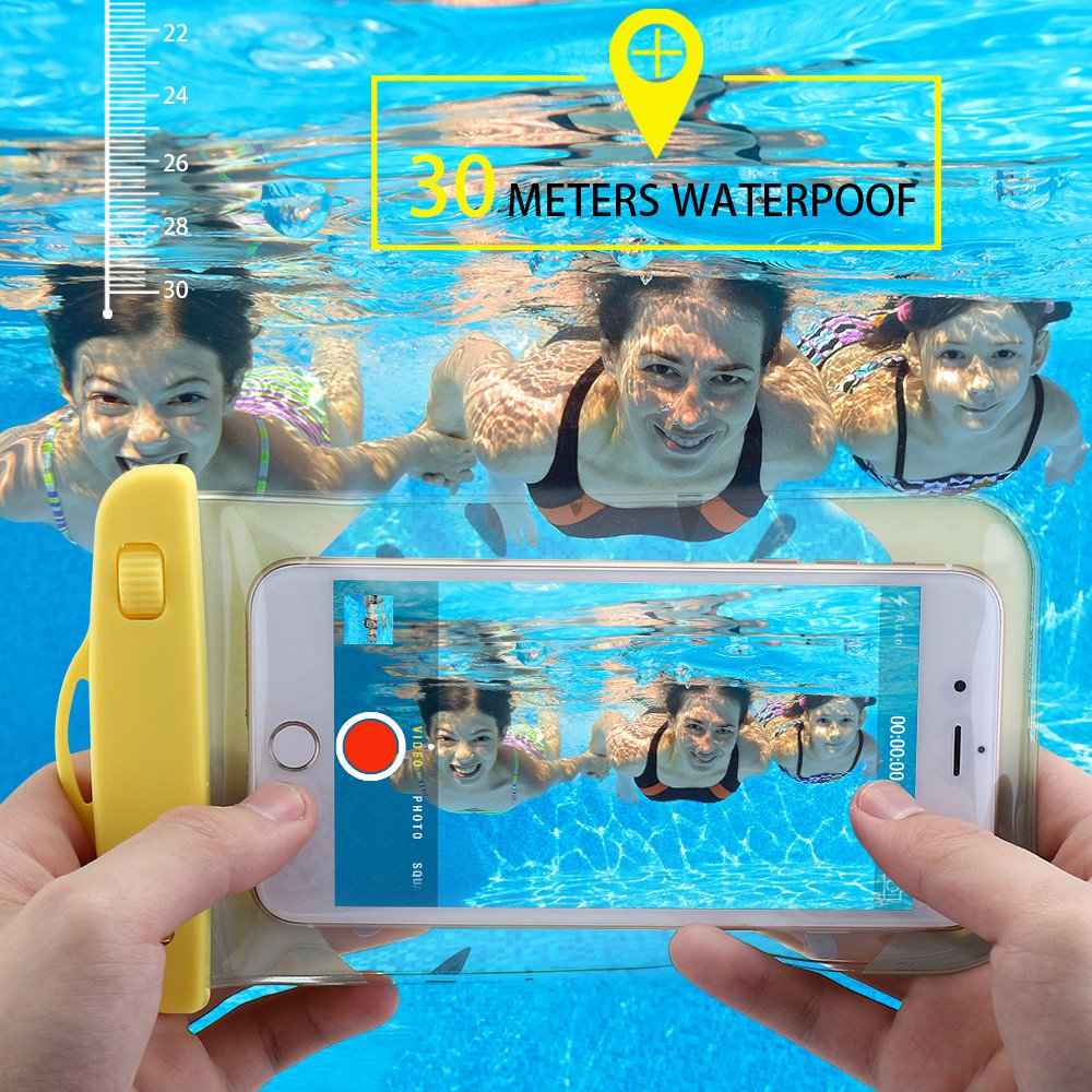 Clear Waterproof Mobile Phone Bags Case for iPhone 7 8 Plus Pouch Cases For Samsung S9 S8 S7 Water-proof Bag For Huawei