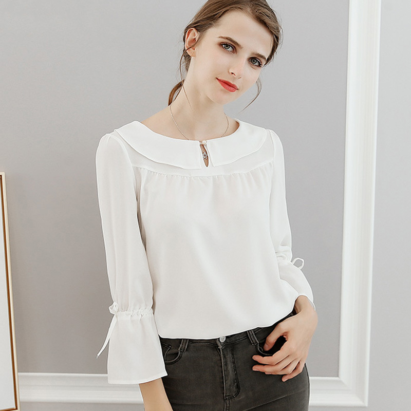 Plus Size Women Clothing 2018 Summer blouse Casual Fashion Lady Round Neck white red office Tops