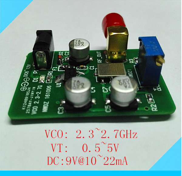 2.4G 1.57G Sweep Frequency Interference Source VCO Manual / External Voltage Control WiFi GPS Power Supply