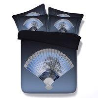 Yeni Varış Çin Tarzı Hayranları Nevresim Takımları 3/4 ADET Nevresim Çarşaf Yastık Ev Tekstili Dekorasyon