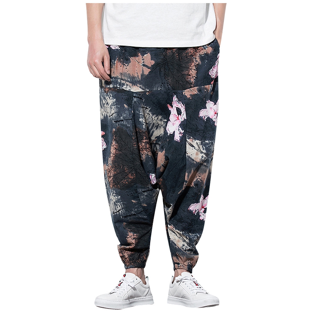 Trousers Streetwear Pants Harem Hip-Pop Multi-Pocket Fashion Casual Male GH50 Hombre