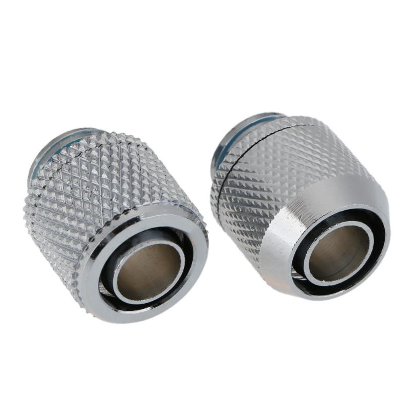 G1/4 External Fitting Thread point flat double pagoda Soft Tube Connector for 9.5 X 12.7 mm PC Water Cooling System