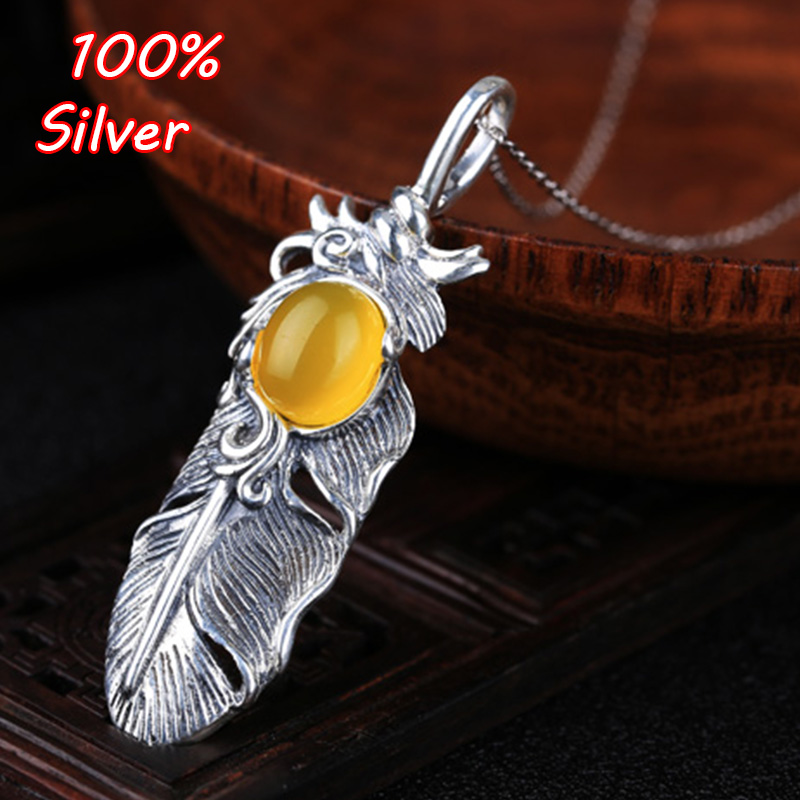 9*11mm 100% Pure Silver Feather Pendant Blank set with turquoise amber honey wax south red  Antique silver9*11mm 100% Pure Silver Feather Pendant Blank set with turquoise amber honey wax south red  Antique silver