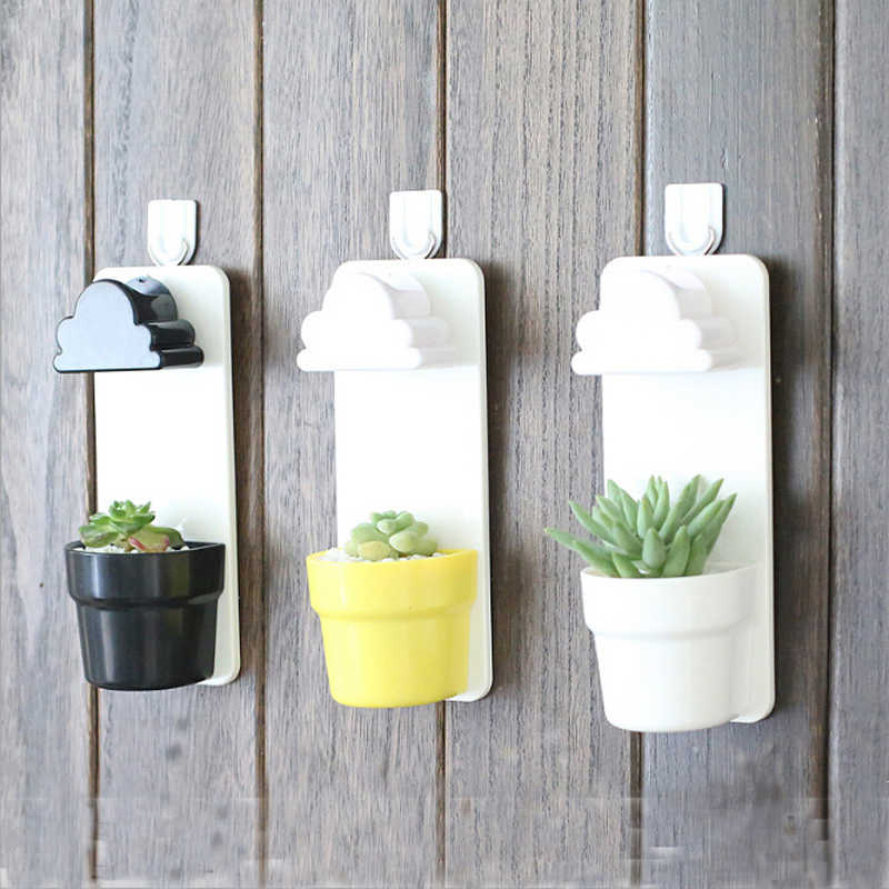 Clouds Automatic Water Succulent Plants Flower pot Home Office Decoration Balcony Decorative Potted Plastic Hanging Garden Pot