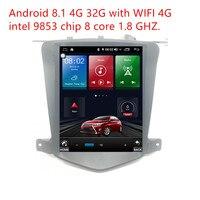 ZOYOSKII Android 8,1 10,4 дюймов ips vetical HD экран автомобильный gps Мультимедиа Радио навигационный плеер для Chevrolet Cruze 2009 2015