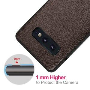 Image 4 - Do Samsung Galaxy S10E etui do S10 Lite okładka S10 E obudowa Coque silikonowy PU skórzany tył TPU MOFi oryginalny