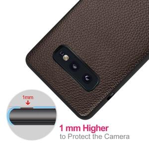 Image 4 - Samsung Galaxy S10E için S10 Lite kapak S10 E konut Coque silikon PU deri sırt TPU MOFi orijinal