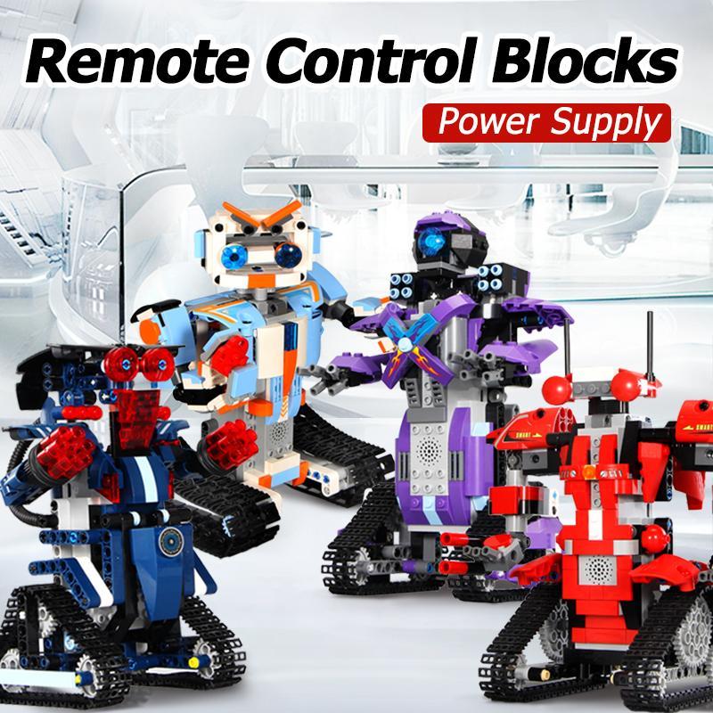 Blocs Robot RC télécommande modèle Intelligent sport technique technologie construire modulaire bricolage assembler des briques jouets pour garçons cadeau