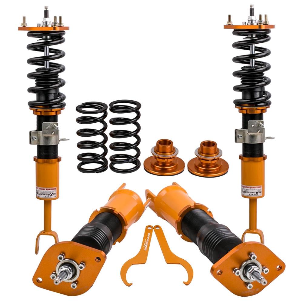 Racing Réglable Coilover Suspension Kit pour Infiniti G35 Nissan 350Z Z33 03-07 Abaissement Suspension Kit Top Mount Carrossage plaque