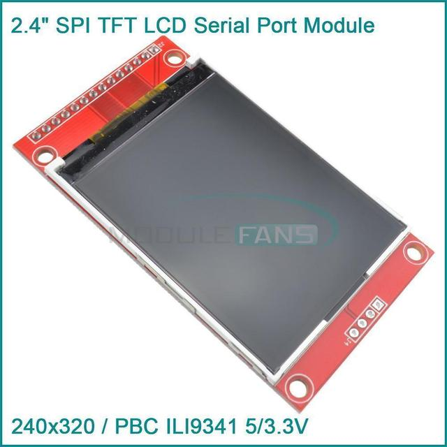 """2.4"""" 240x320 SPI TFT LCD Serial Port Module 3.3V PBC Adapter SD ILI9341"""
