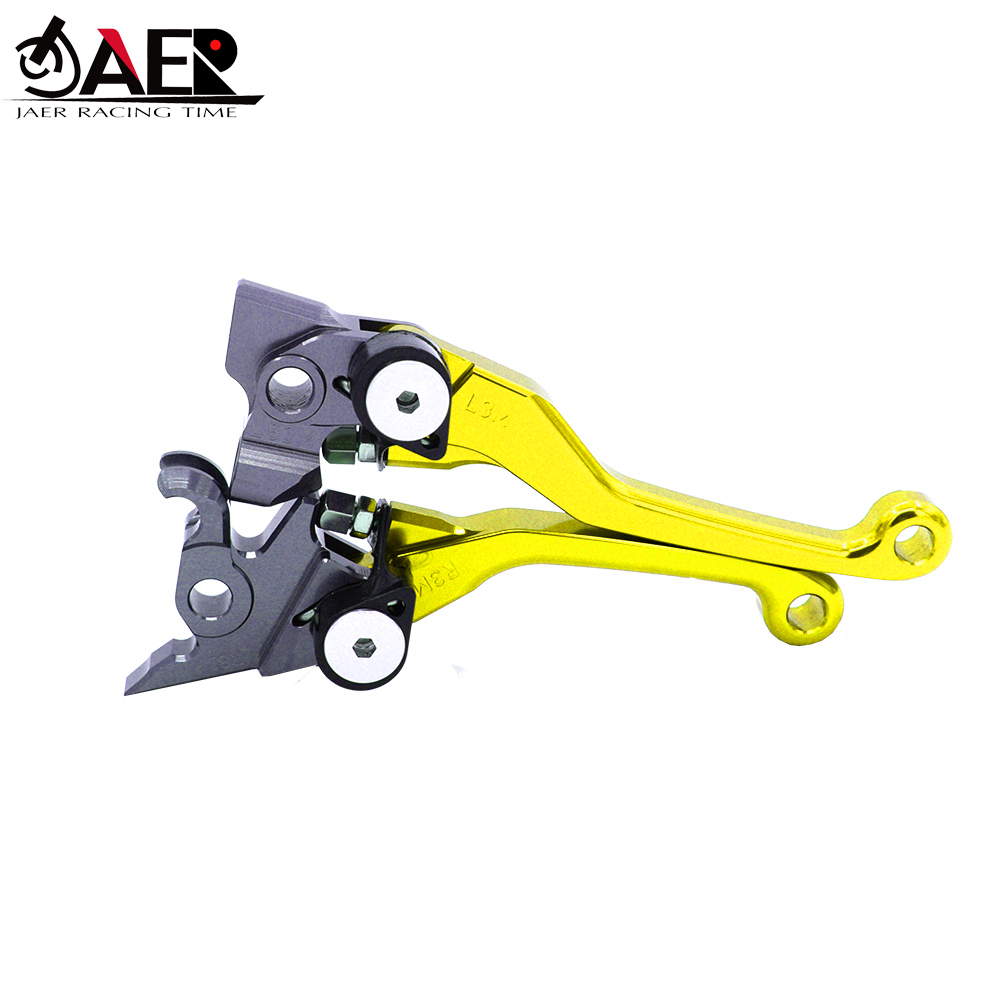 Image 2 - JAER CNC Motorcycle Dirt bike Pivot Brake Clutch Levers For Yamaha WR450F 2016 2017 2018 WR250F 2017 2018-in Levers, Ropes & Cables from Automobiles & Motorcycles