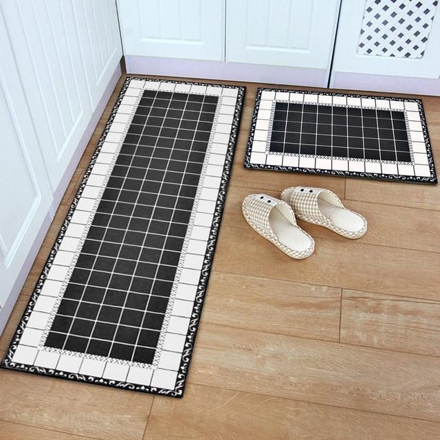 yazi Flannel Modern Doormat Kitchen Floor Mat Soft Plush Carpets ...