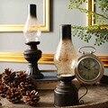 Vintange resina lâmpadas de querosene vela de 1 PC criativo castiçal de decoração artesanato