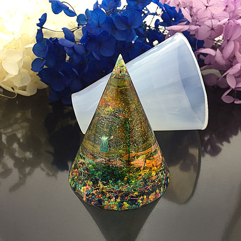 New Transparent Silicone Cone Shape Energy Tower Molds For Resin Jewelry DIY Mold Resin Molds For Jewelry  20/30/40/50/60mm