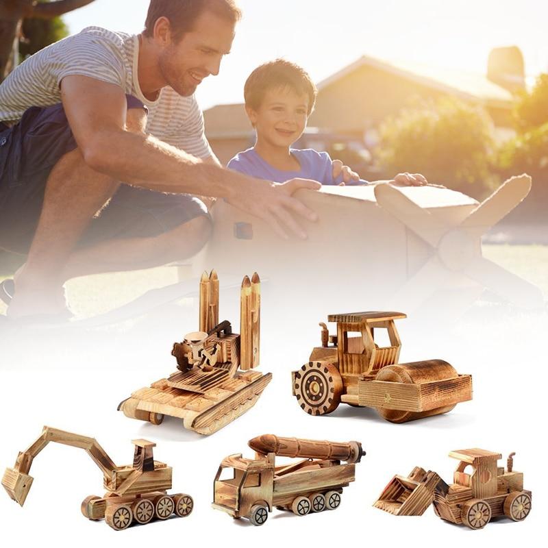 Wooden Simulation Rocket Car Model Kids Childrens Toys Wooden Rocket Car Model For Children