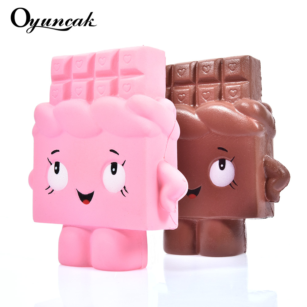 Oyuncak Squishy Chocolate Antistress Novelty Gag Toys Gags Practical Jokes Surprise Squish Anti Stress Fun Squeeze Funny Gadgets oyuncak squishy unicorn novelty gag toys surprise antistress fun squeeze unicorn squish kawaii anti stress jumbo funny gadgets