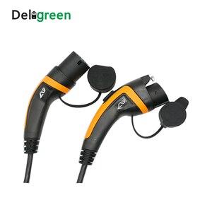 Image 3 - Cable de carga portátil para coche eléctrico, estación de carga portátil de 16A 32A 2 metros J1772 EV tipo 1 a Tipo 2 IEC62196