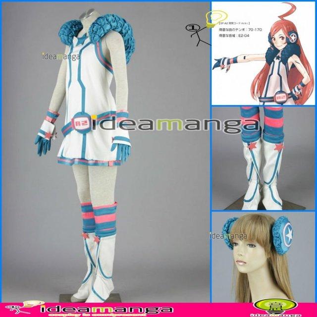 [ideamanga]Manga Amime V+ VOCALOID  MIKI MIKIYA girl's Cosplay Costume Female halloween party dress Any Size