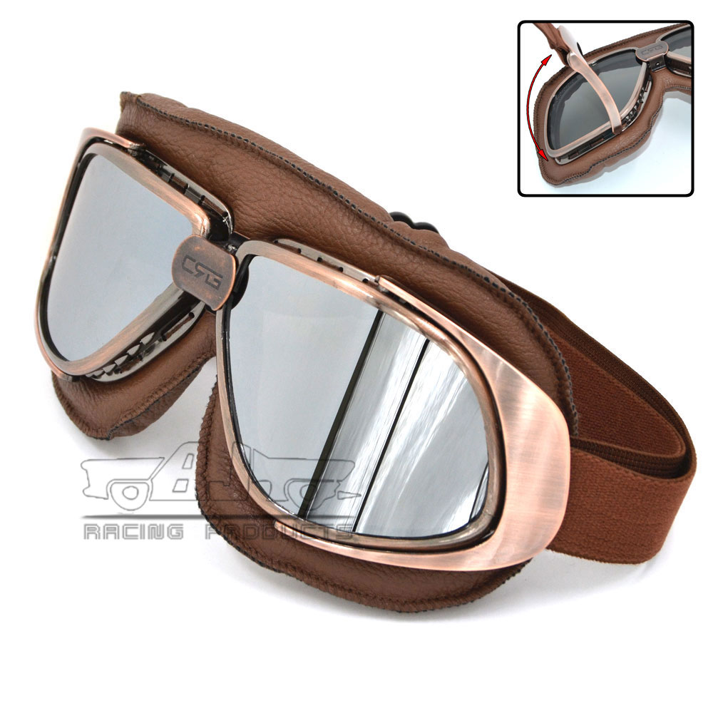 Bjmoto For Harley Motorcycle motorcross Vintage gafas Jet Pilot ATV Cruiser Off Road Eyewear Helmet Goggles glasses|Motorcycle Glasses| |  - title=