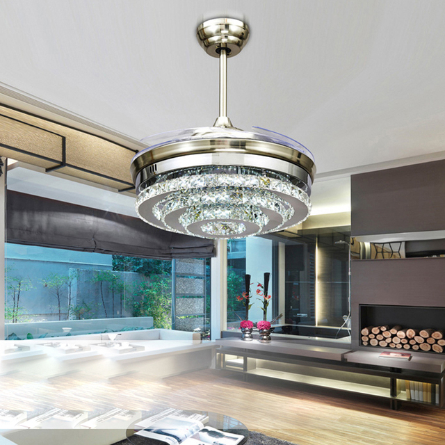 Led modern crystal acrylic ceiling fan led lampled lightceiling led modern crystal acrylic ceiling fan led lampled lightceiling lightsled aloadofball Image collections