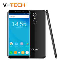 "Sıcak Oukitel C8 5.5 ""18: 9 Infinity Ekran Android 7.0 MTK6580A Quad Core 2G RAM 16G ROM 13MP 3000 mAh Parmak Izi KIMLIK Smartphone"