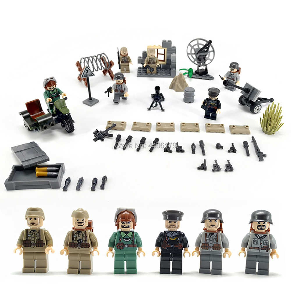hot compatible LegoINGlys military WW2 Desert eagle army war Building Blocks mini weapons figures brick toys for children gift