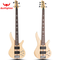 Bullfighter DB 4S 5S Electric Bass Guitar 4/5 Strings Active Pickups Metal Bass Guitar Musicman Metal Performance Bass Guitar
