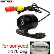600 linee CCD HD notte vsion auto bakup invertire monitor della fotocamera posteriore di assistenza al parcheggio della macchina fotografica Universale frontale vista posteriore della macchina fotografica impermeabile