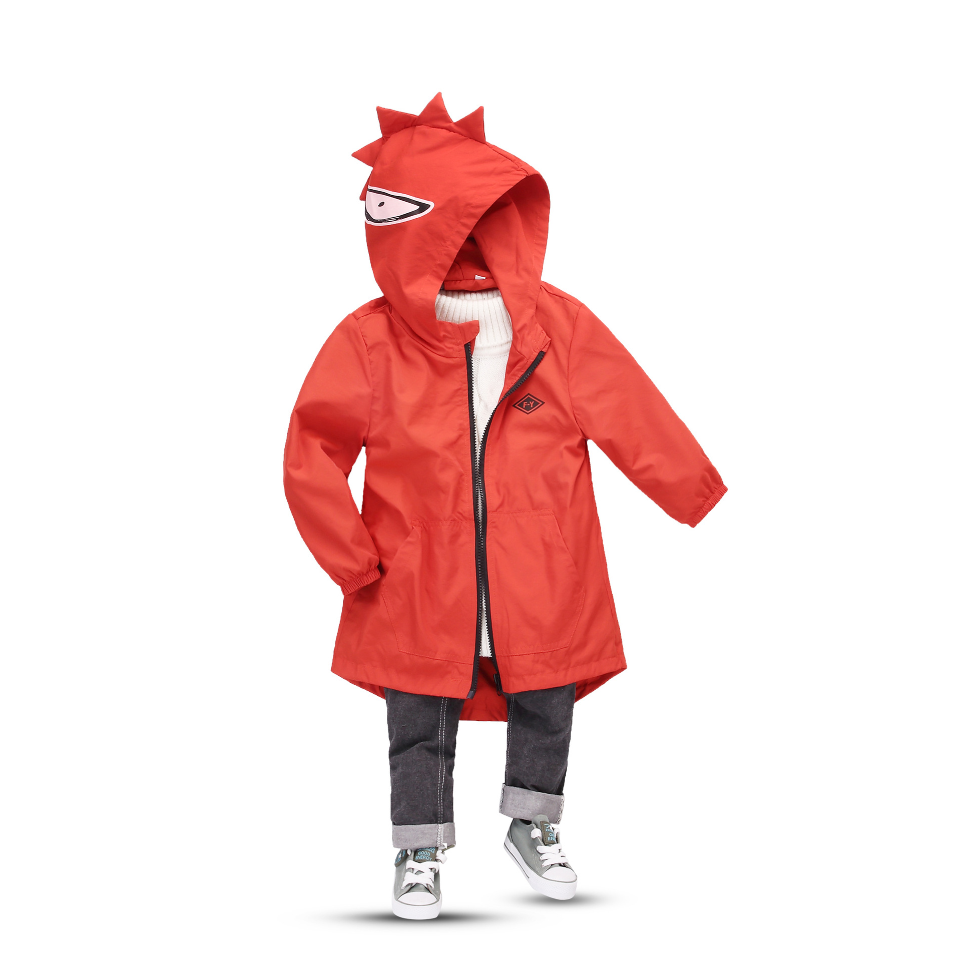 Kids Coat Windbreaker Spring Water-Proof Autumn Boys Cartoon And Monster Ages Size-2-8