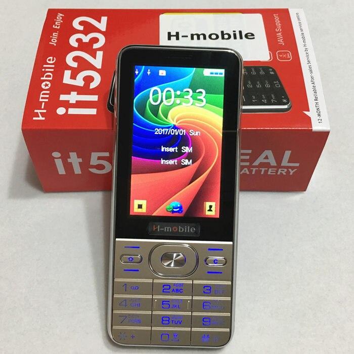 Цена за It5232 dual SIM двойной резервный мобильный телефон 3.2 дюймов экран сотовый телефон Русская клавиатура телефон H mobile it5232