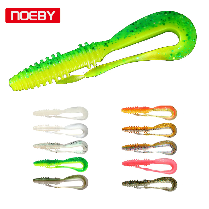Noeby Soft Fishing Lures 14cm 10cm Big Curly Tail Soft Baits Leurre Souple Shad for ul Fishing nils master baby shad 5cm vertical jigging ice fishing lures