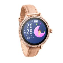 2019 Nieuwe Mode Diamond Smart Bluetooth Armband Horloge M8 IP68 Waterdichte Multi-Talen Hartslagmeter Smartwatch Vrouwen(China)