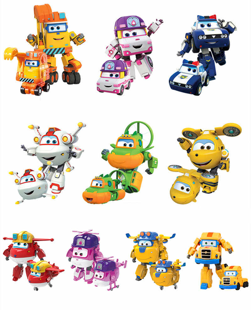 Big!!!15cm Super Wings Deformation Airplane  Action Figures toys Super Wing Transformation Robot  for childrens gift Brinquedos