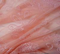 Telas Patchwork Hot Sale Patchwork Tulle Rolls 2019 Black 100% Silk Chiffon Embroidery Jacquard Fabric Cloth Lace Wedding Dress