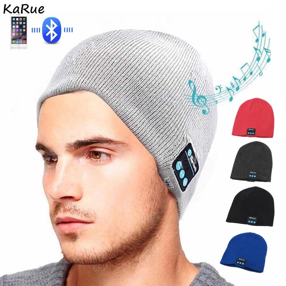 KaRue Wireless Bluetooth Headphone Headband Hat Soft Warm Sports Smart Cap Smart Speaker Stereo Headset with Microphone
