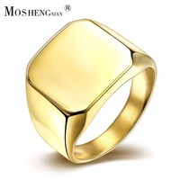 Stainless Steel Ring Male The New European And American Wind Punk Gold Ring The Choice Of